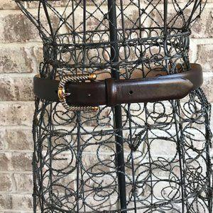 WCM New York Italian Calfskin Leather Belt NWOT
